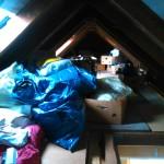 Räumung Dachboden vorher